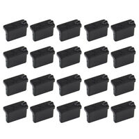 40pc Black Anti Dust Stopper Female USB Protector Plugs A Type Rubber Cover Case
