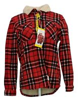 Soho Threads Women's Sz S Plaid Jacket Buttoned Front Long Sleeve Red