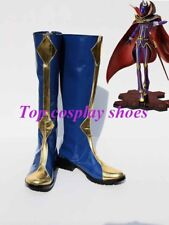 Anime Code Geass Cosplay Lelouch Zero Blue Cosplay Boots Shoes