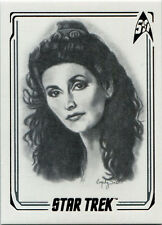 Star Trek 50th Anniversary ArtiFEX Emily Tester Chase Card A14 Counselor Troi