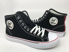 PF Flyers Center Hi Mens Casual Canvas Shoes Size 8.5 M Black MC2001BL NEW