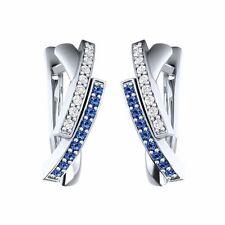 Markenlose Ohrringe mit Saphir Edelsteine
