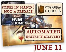 Magic Mtga Mtg Arena code card Fnm Home Promo Pack June 11 - Instant Email -