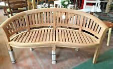 TEAK CURVED BENCH / OUTDOOR / GARDEN / SOLID WOOD / PATIO / SEATING /