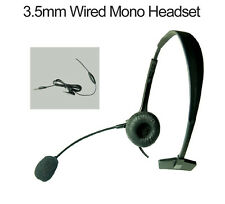 3.5mm Over-the-Head Mono Wired Extended Mic Headset For Samsung Galaxy S9 / S9+
