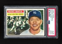 ⚾ 1956 Topps MICKEY MANTLE #135 PSA 9 MINT Beauty Centered L/R! + 1952 Topps RP