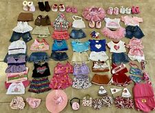Build A Bear 73 piece lot of girl Clothes Girl Scouts Shoes Pajamas + more