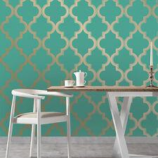 Tempaper MA034 Self Adhesive Wallpaper Marrakesh Honey Jade Metallic 56 sqft