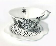 New Anthropologie Wild Masquerade teacup and saucer set Florence Balducci bee