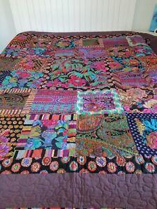 KAFFE FASSETT QUILT ~ Artisan Hand Made ~ Large Throw Quilt ~ NEW ~ 74 x 73