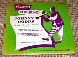 """JOHNNY DODDS - The King of New Orleans Clarinets, Volume One, Brunswick 10"""" LP"""