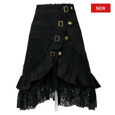 Vintage Cotton Lace Skirt Women's Steampunk Gothic Clothing Black Gypsy Hippie L