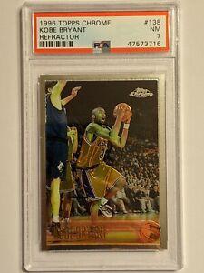 "1996 Topps Chrome Kobe Bryant RC Rookie Card PSA 7 ""NOT REFRACTOR"""