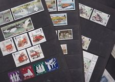 Isle of Man 1991 Mint MNH Full Sets MS RNLI TT Course Swans Fire Engines Trains