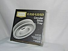 "Sears Easi-Load Circular slide Tray 3 9985 holds 100 2""X2"" plastic or cardboard"