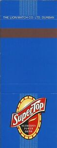 South Africa Matchbook Cover-SuperTop Power Drink-0281-09