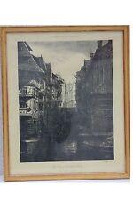Strasbourg Straßburg/Elsass - Alter Gerbergraben, Lithographie  55 X 45 cm