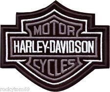 Harley-Davidson Silver Bar & Shield Patch MD 5 5/8'' x 4 5/8'' EMB302543