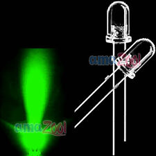 50pcs Superbright 3mm green Round top LED Light 2pin led green 14000MCD
