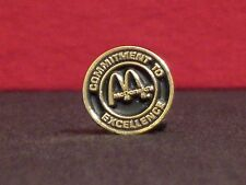 "McDonald's ""Commitment to Excellence"" Vintage 1980's Crew Award Pinback"