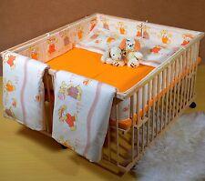 Zwillinge Kinderbett Baby Laufgitter Zwillingsbett Matratze Bettwäsche120x124cm