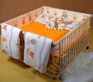 Zwillingsbett Zwillinge Komplett Set 124 x 120  Babybett Gitterbett Laufgitter