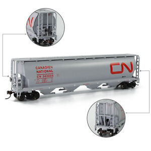 HO scale 1:87 CYLINDRICAL Grain Hopper Car Silver Series Rolling Stock C8744