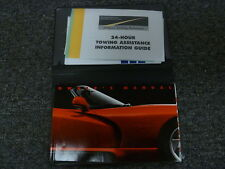 1994 Dodge Viper Convertible Owner Owner's Manual User Guide Book Rt/10 8.0L V10