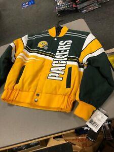Green Bay Packers Youth /boys  Twill Jacket  MTC BRAND JACKET