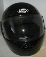 THH T-888 Black Motorcycle Helmet Full Face Medium DOT Vented 2000 Taiwan