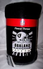 "Oakland Raiders Fleece Blanket/Throw 50"" x 60"" by Northwest Company-New!"
