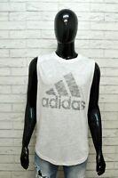 Maglia Uomo Adidas Taglia XL Maglietta Canotta Shirt Man Smanicato Polo Cotone