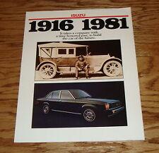 Original 1981 Isuzu Diesel & Sports Car Sales Brochure 81