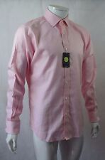 """Bnwt TM Lewin Finest Two Fold Cotton Pink Micro Dogtooth LS Shirt - 15.5"""" (R62)"""