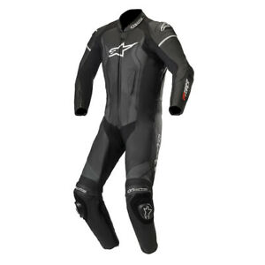 Alpinestars GP Force 1 Piece CE Leather Motorcycle Motorbike Suit Black - EU60
