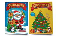 12 Mini Christmas Colouring Books A6 - Girl or Boys Party Bag Fillers 1 White