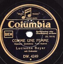 Lucienne Boyer singt Chansons : Comme une Femme + Rien, Rien, Rien