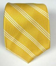 NWT Brooks Brothers Silk Twill Striped Stain Resistant Gold Tie Yellow