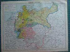 Mapa histórico ~ Alemania 1815-1914 Sajonia Turingia Confederación Imperio Alemán