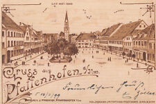 AK Pfaffenhofen Hauptplatz Holzbrand-Imitations-Karte gel 1899 Oberbayern