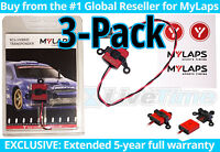 MyLaps Transponder 3-Pack of Hybrid (2-wire) for R/C Cars (AMBrc, AMB rc) - NEW