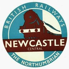 More details for british railways luggage label - the northumbrian - newcastle central