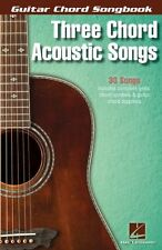 Three Chord Acoustic Songs LEARN TO PLAY Rock Pop Hit Chart GUITAR Music Book
