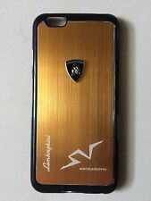 IPHONE6S FASHION GENUINE METAL LAMBORGHINI DESIGN LOGO ABS COVER CASE GOLD