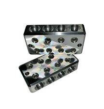 Pair ILL Customz 4 IN 4 OUT 1/0 AWG 0 Gauge Power and Ground Distribution Blocks