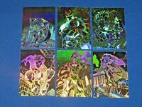 1996 FLEER AMALGAM MARVEL VS DC HOLOPIX INSERT 6 CARD SET WOLVERINE HOLOGRAM!