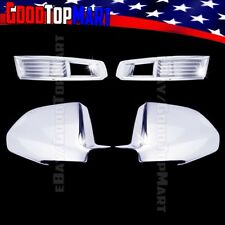For Cadillac CTS 2008 2009 2010 2011 Chrome Covers Set Front Fog Lights+Mirrors