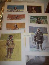 "Tom McNeely ""SPIRIT of the NORTH"" Prints set of 7 RARE Canadian Vintage Lithos"
