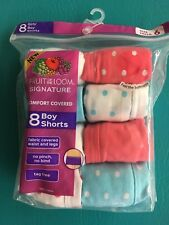 Fruit of The Loom Girl's Boy Shorts Size 6 - Pack of 8 - New in Original Package