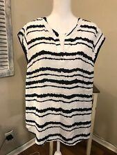 ec565e52896853 Hilary Radley Women Boho Blouse Top Shirt V Neck ShortSleeve White A26